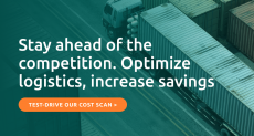 Optimize your logistics : Test-drive our Cost Scan solution